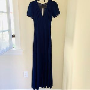 Reformation Navy Blue Fiore Dress, Size XS